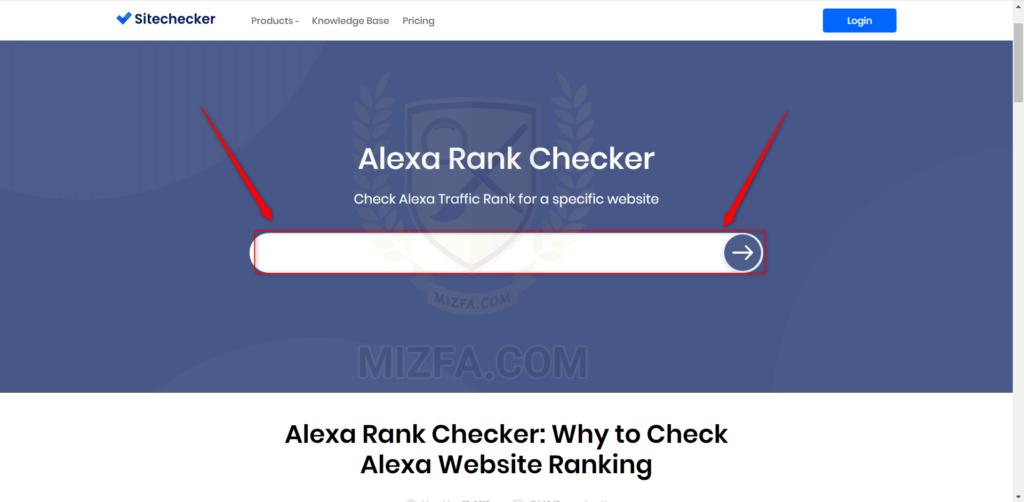 نمایش رتبه الکسا سایت با ابزار sitechecker