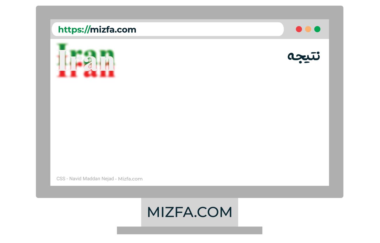 استفاده از سایه های چندگانه در کلمه Iran