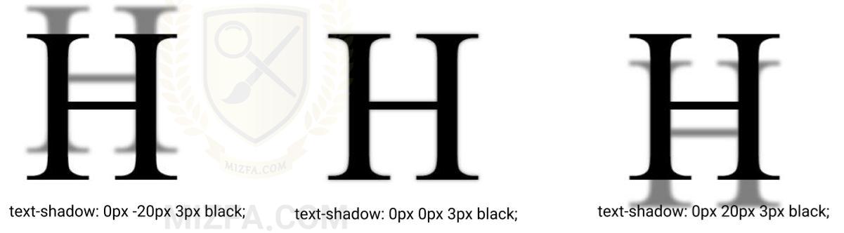 سایه عمودی در text-shadow