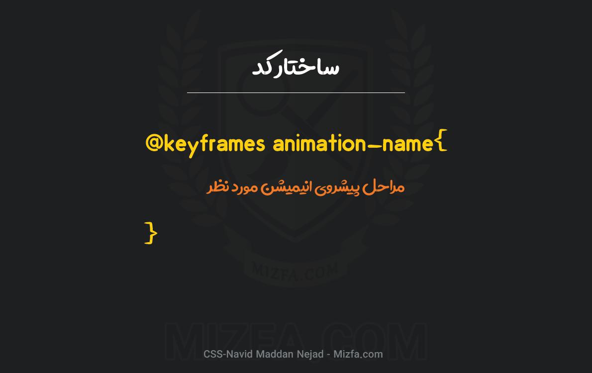 keyframes@ در CSS