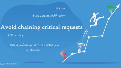 ارور Avoid chaining critical requests