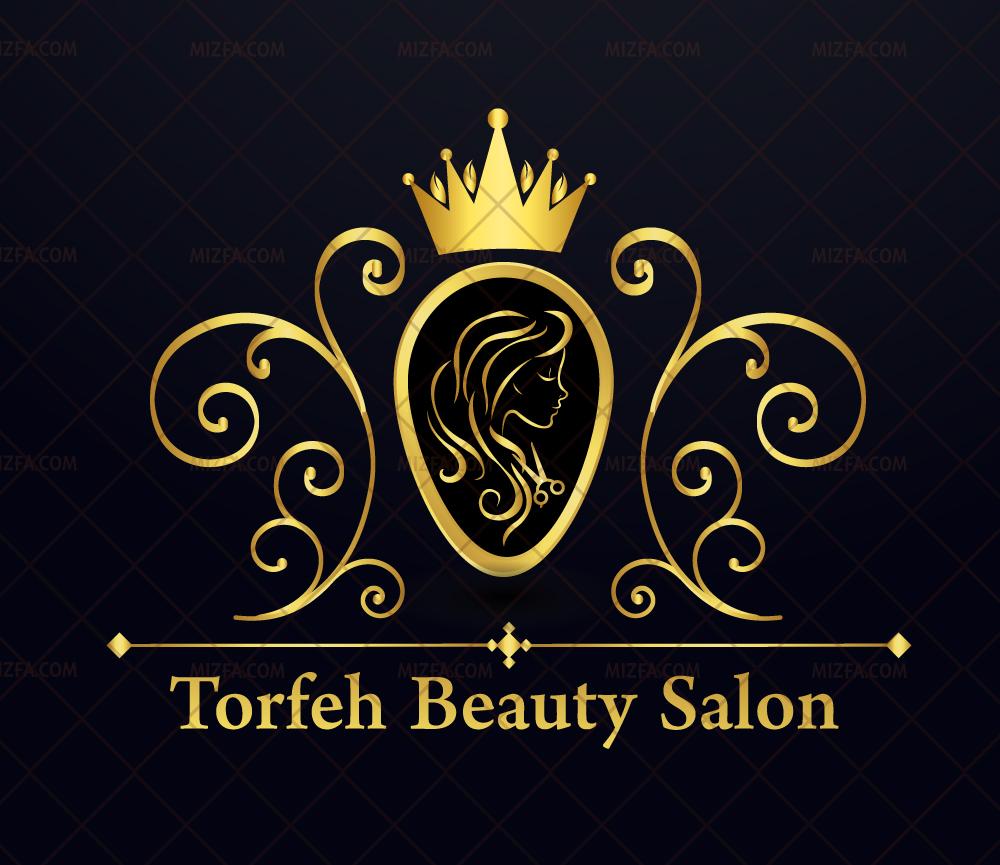 طراحی لوگو سالن زیبایی طرفه